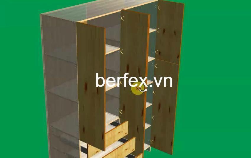 5 phút thiết kế xong 1 cái tủ nhờ phần mềm thiết kế cho máy CNC