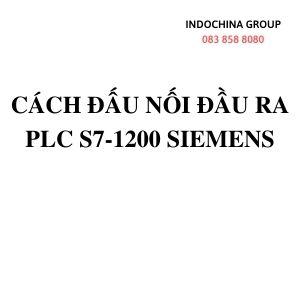 CÁCH ĐẤU NỐI ĐẦU RA PLC S7-1200 - SIEMENS