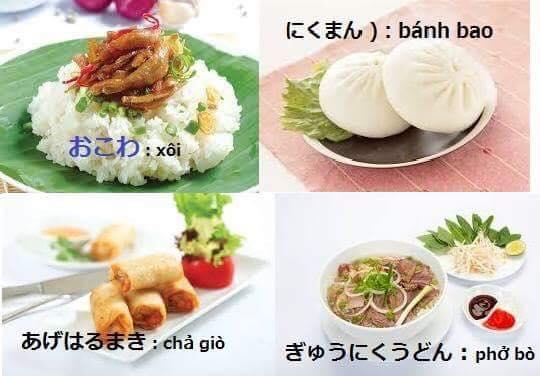 Các món ăn Việt – Tiếng Nhật là gì?