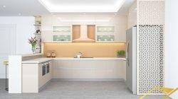 Phong cách thiết kế tủ bếp chữ U – Chất liệu Acrylic