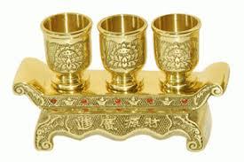 Chén đựng nước thờ bằng đồng sang trọng, bền đẹp