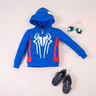 Áo khoác bé trai hình nhện có nón thời trang