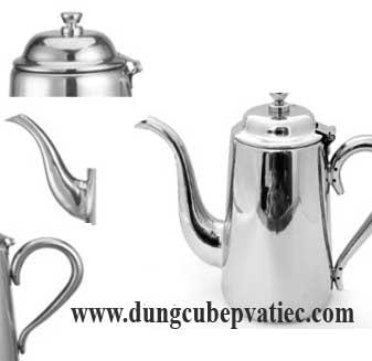ấm trà inox, bình trà inox 750ml, bình đựng sữa, bình đựng cafe, bình pha trà