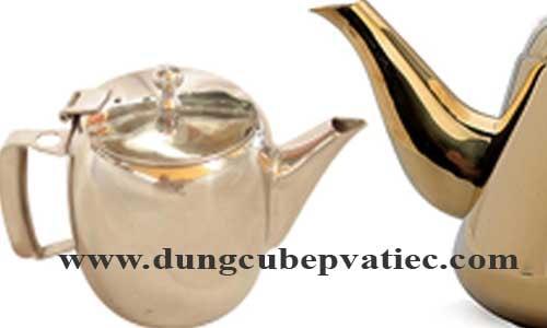 ấm trà mạ vàng, bình trà mạ vàng, am tra cao cap, giá bình trà cao cấp, bình đựng cafe cao cấp