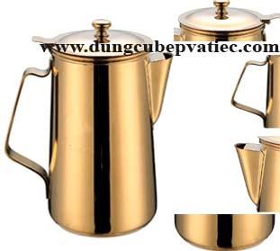 binh inox ma vang, bình inox mạ vàng, bình trà inox 2L mạ vàng, bình cafe inox 2L mạ vàng, giá bình inox mạ vàng