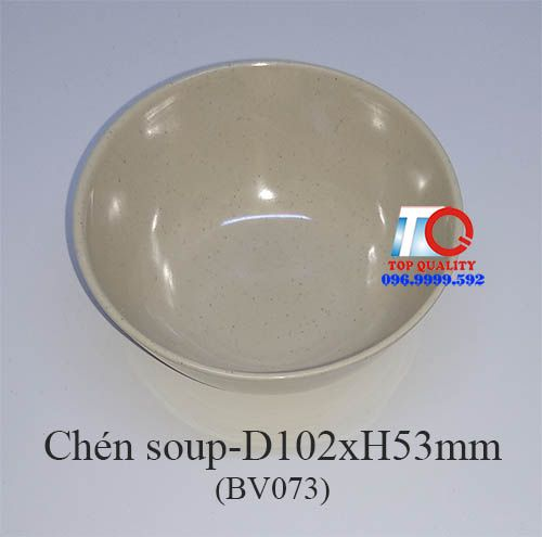 Chén đựng soup melamine màu nâu đá BV073-4