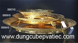 dĩa tròn cao cấp, dĩa tròn mạ vàng, dia ma vang, quà tặng tân gia, quà tặng sếp