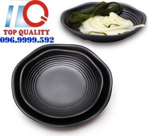 dĩa melamine, dĩa nhựa melamine, dĩa nhựa đen, đĩa melamine, chén dĩa melamine