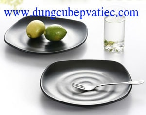 đĩa melamine đen, đĩa nhựa melamine đen, đĩa nhựa đen, đĩa melamine, chén dĩa melamine