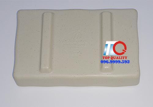 Dĩa tương nhựa melamine nhám 2 ngăn nâu đá