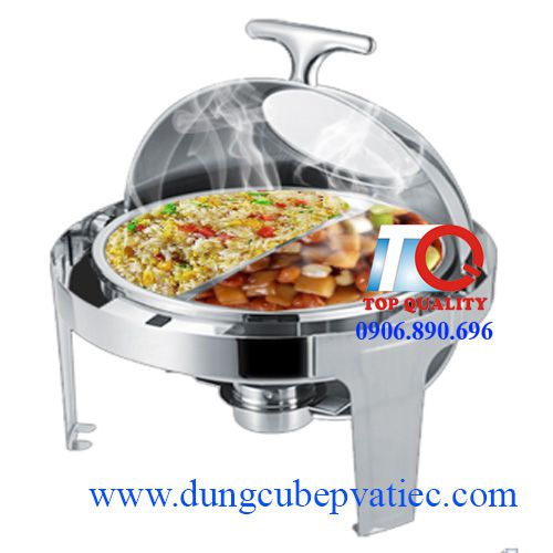 electric round glass lid chafing dish at ho chi minh city