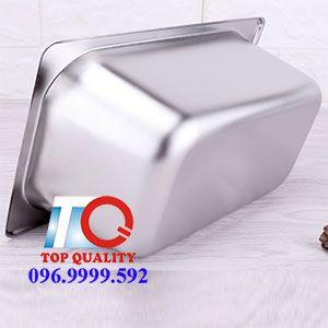 giá khay inox 1/4, giá khay topping gn 1/4
