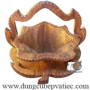 Giỏ đựng trái cây bánh kẹo bằng gỗ xếp, giỏ gỗ đựng trái cây tết