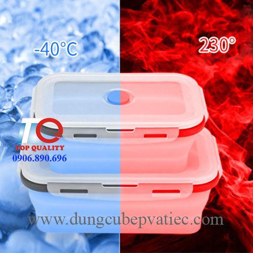 hộp silicon đựng thức ăn, hộp đựng đồ ăn để trong tủ lạnh