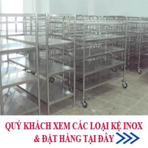 kệ inox, gia cong ke inox, sản xuất kệ inox, kệ inox nhà bếp