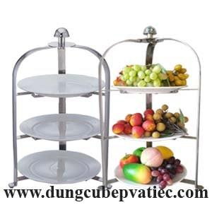 kệ trưng bày buffet 3 tầng, kệ trưng bày bánh 3 tầng, kệ trưng bày trái cây 3 tầng, kệ để đồ ăn nhẹ, kệ để trà cafe