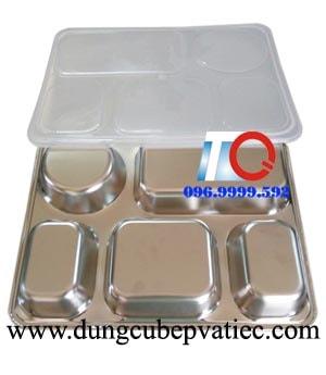 khay com inox, khay ăn inox, hộp đựng cơm inox, khay cơm inox văn phòng, khay cơm inox 304