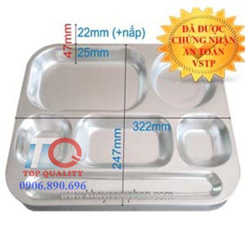 kích thước khay cơm inox 304 6 ngăn