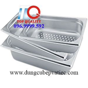 khay cont inox 1/3 co dot duc lo