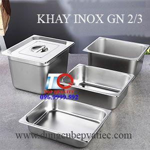 khay cont inox gn 2/3