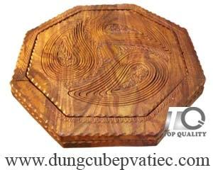 khay gỗ 3 ngăn đựng bánh mứt hạt dưa tết