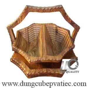 Khay đựng bánh mứt tết bằng gỗ cao cấp