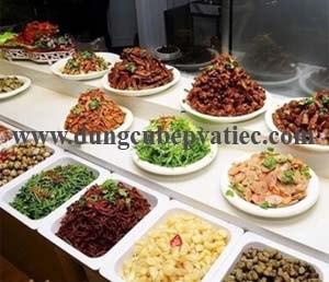khay buffet GN 2/3 bang su, khay buffet su, khay su buffet, khay su chu nhat, khay su sau long