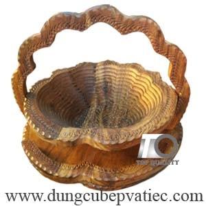 khay gỗ xếp đựng trái cây bán kẹo