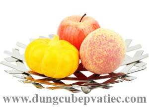 khay inox lưới đựng trái cây