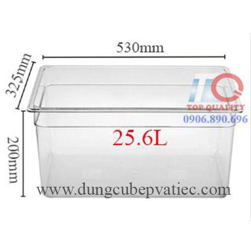 Khay nhựa mica dung tích lớn 1/1*200