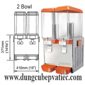 bình làm lạnh nước trái cây đôi, bình giữ lạnh nước hoa quả đôi, binh lam lanh nuoc trai cay 2 binh, juice dispenser 2 tank, giá bình làm lạnh nước trái cây đôi