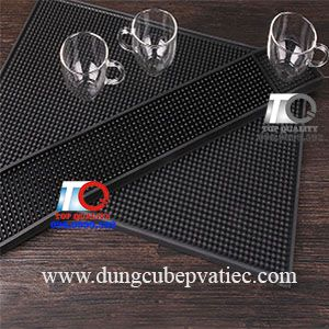 Thảm bar, Rubber bar mat, thảm bar dài, thảm bar đen, thảm quầy bar
