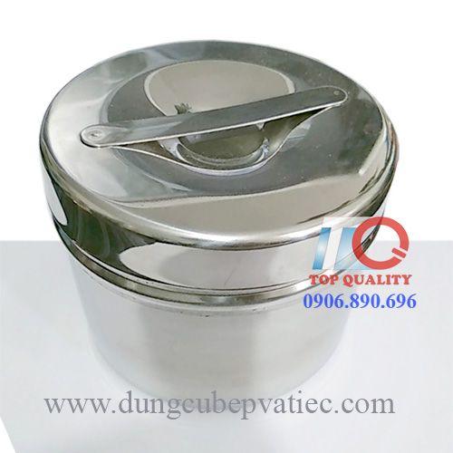 tho inox, thố inox, hộp inox 304 có nắp đựng cháo canh soup