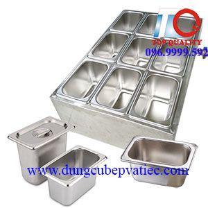 thùng giữ nhiệt lạnh khay topping thạch trà sữa 9 ô
