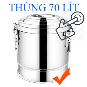 thùng inox 70 lít giữ nhiệt nóng lạnh
