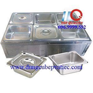 giá thùng inox trưng bày lạnh khay inox trà sữa topping