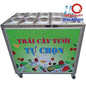 Xe trái cây tự chọn giá rẻ 11 khay, bán xe trái cây giá rẻ, bán xe trái cây có sẵn