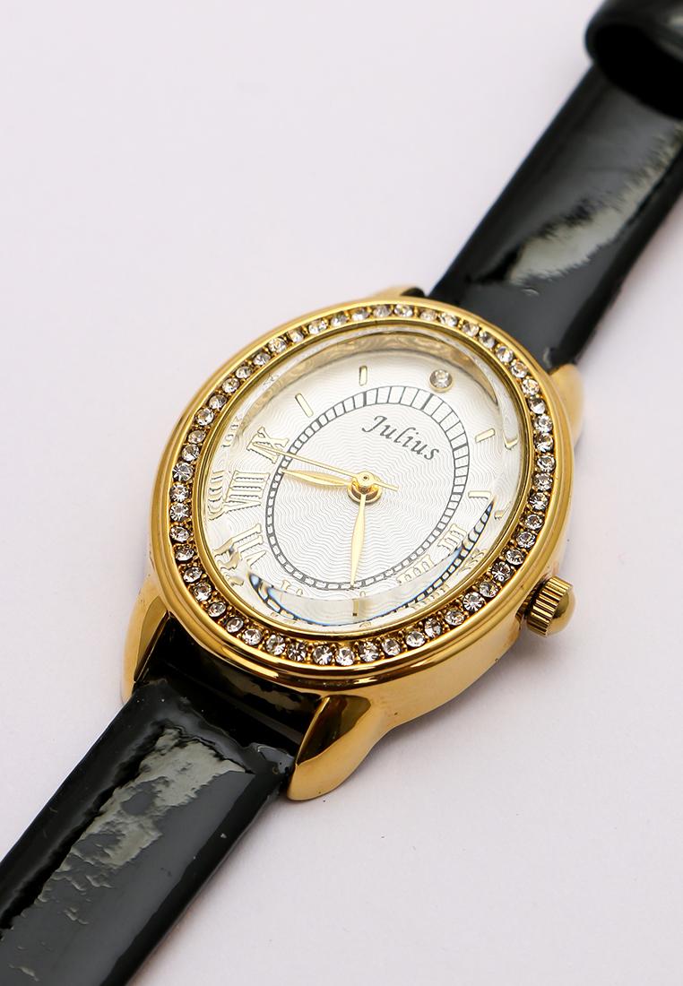Đồng hồ nữ JULIUS JA742 dây da (đen)