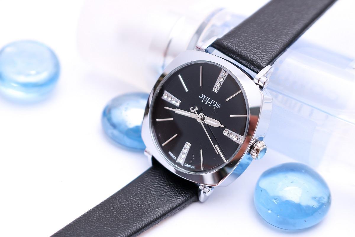 Đồng hồ nam JULIUS JA388 dây da (đen)