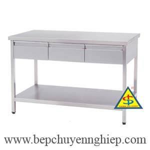 ban inox ngan keo, bàn inox hộc kéo, bàn inox ngăn kéo, bàn inox ngăn kéo và cửa lùa, bàn inox cửa trượt có ngăn kéo