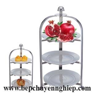 giá kệ buffet 3 tầng, kệ buffet 3 tầng, giá buffet 3 tầng, đồ dùng bàn tiệc buffet, kệ bánh tea break, kệ trái cây ngũ quả