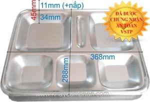 khay-an-inox-6-ngan-co-nap, khay ăn inox 6 ngăn có nắp, khay inox nhiều ngăn, khay ăn inox 6 ô, nơi bán khay inox 6 ngăn giá rẻ, mua khay ăn cơm inox 6 ngăn ở đâu