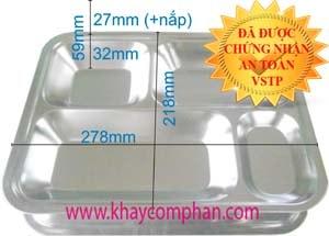 khay com inox 4 ngan, Khay cơm inox 4 ngăn có nắp, khay cơm mầm non, khay cơm tiểu học 4 ngăn, khay ăn inox 4 ngăn có nắp