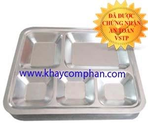 khay-com-inox-304-5-ngan, khay cơm inox 304 5 ngăn, khay cơm inox 304 có nắp, khay ăn inox 304, khay cơm phần inox 304
