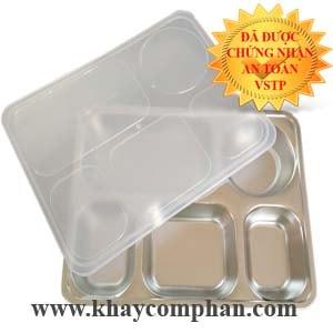 khay cơm inox 5 ngăn Hàn Quốc, khay cơm cao cấp hàn quốc, khay cơm inox 304 cao cấp