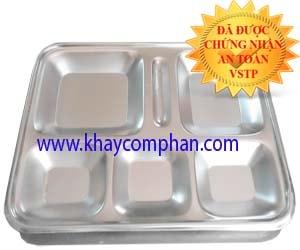 khay-com-van-phong-6-ngan-inox-304, khay cơm văn phòng 6 ngăn inox 304, khay đựng cơm văn phòng inox 304 6 ngăn