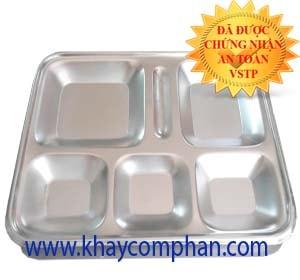 khay đựng cơm inox 304 6 ngăn, khay đựng cơm 6 ngăn inox 304, khay cơm 304 có nắp, nơi bán khay đựng cơm giá rẻ, khay đựng cơm 6 ngăn tại TPHCM