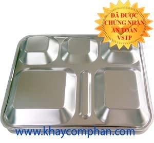 khay đựng cơm phần inox 304 6 ngăn có nắp giá rẻ tại tphcm