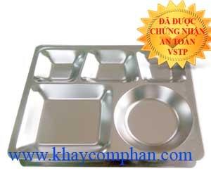 khay-inox-304-5-ngan-co-nap, khay inox 304 5 ngăn có nắp, khay đựng cơm inox 304 5 ngăn, nơi bán khay inox 304 giá rẻ, khay inox 304 giá rẻ tại TPHCM