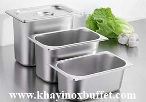 khay inox GN 1/4, khay GN 1/4, GN 1/4, cong inox 1/4, gastronorm pan sizes 1/4